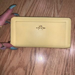Yellow coach wallet